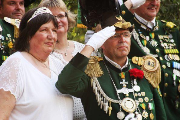 König Klaus Daasch mit seiner Königin Heike