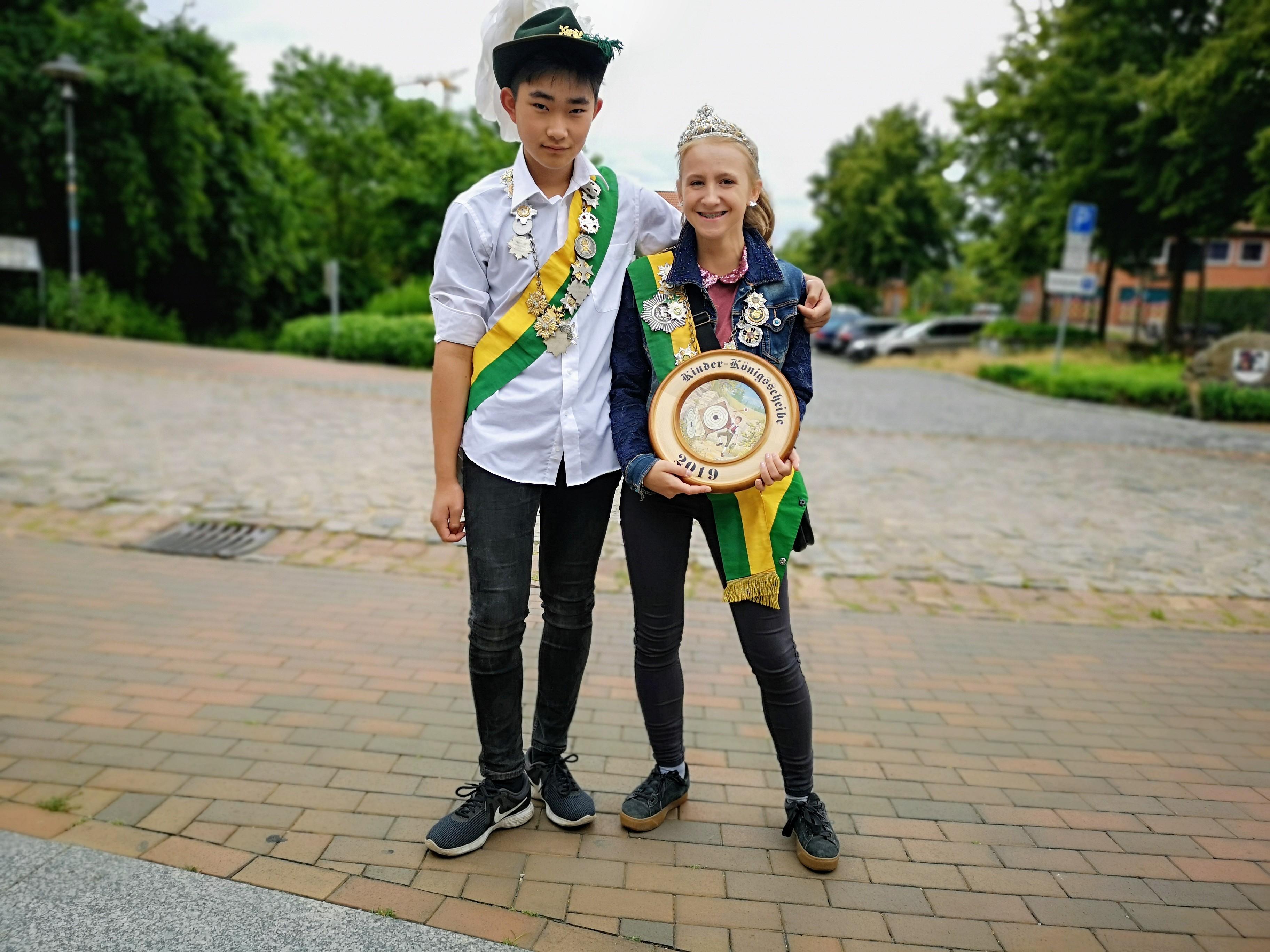Kinderkönigspaar 2019/2020 Xiao Shang Guo und Natalia Pisarek